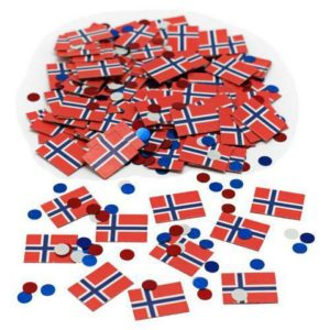 Konfetti JOKER flagg Norge
