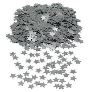 Konfetti JOKER stjerner sølv