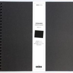 Fotoalbum GRIEG stort 40 sider sort