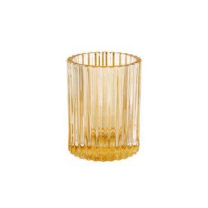 Lysholder DUNI Glass 70x55mm krem