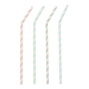 Sugerør PAPSTAR 22cm striper (100)