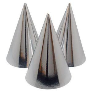 Partyhatt sølv (6)
