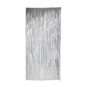 Glittergardin 92x240cm sølv