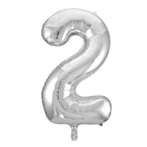 Ballong folie 86cm tall 2 sølv