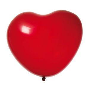Ballong hjerte rød (8)
