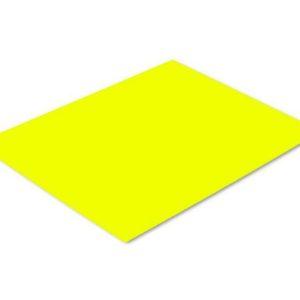 Plakatkartong A4 266gr 2S fluor gul