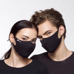 Munnbind tekstil antibakterielt sort