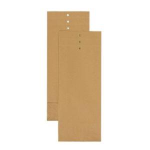Prøvepose 120x305x50mm brun 120g (250)