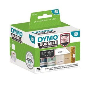 Etikett DYMO Durable 25mm x 25mm (1700)