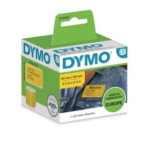 Etikett DYMO LW 54x101mm gul (220)