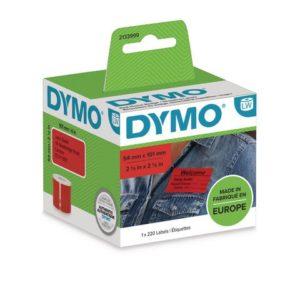 Etikett DYMO LW 54x101mm rød (220)