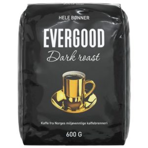 Kaffe EVERGOOD dark hele bønner 600g