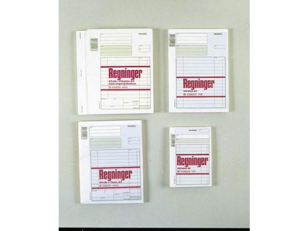 Regningsblokk A5/2 kopier 50x3 blad
