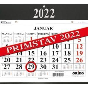 Kalender GRIEG magnet Primstav 2022 sor