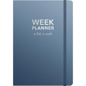 Kalender BURDE A5 Week Planner blå