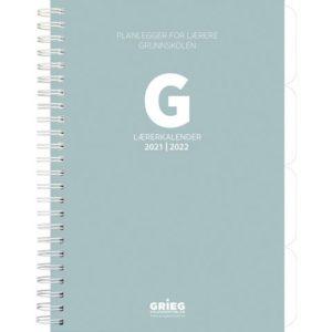Lærerkalender A5 gr skole21/22 grønn
