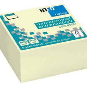 Notatkube INFO Hygienic 75x75 gul
