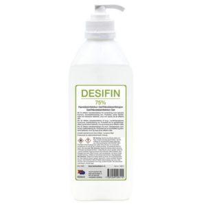 Hånddesinfeksjon DESIFIN gel 600ml pump