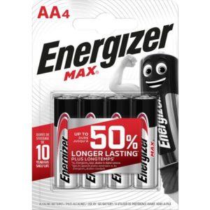 Batteri ENERGIZER Alka Max AA/LR6 (4)
