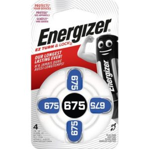 Batteri ENERGIZER høreapparat ZA 675 (4