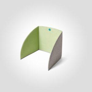 Bordskjerm MATTING StandUp 80 cm grønn
