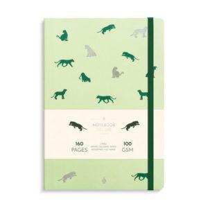Notatbok BURDE Deluxe B5 green panther