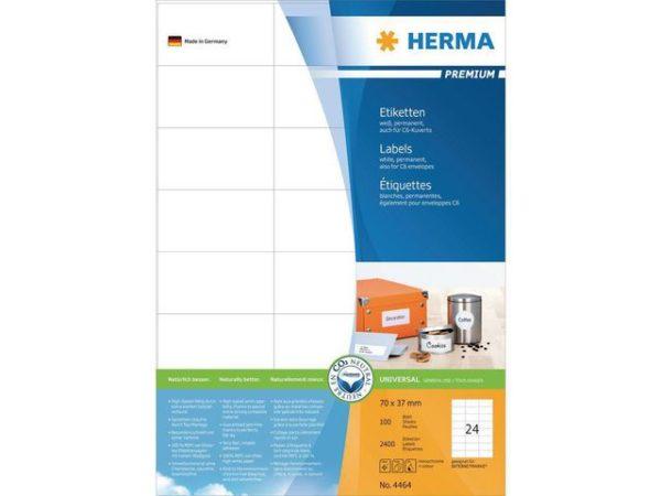 Etikett HERMA premium A4 70x37mm (2400)