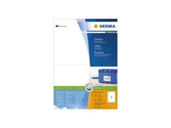 Etikett HERMA premium A4 210x148mm (200