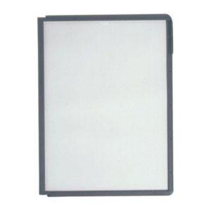 Lomme SHERPA® A4 matt refleksfri PP grå