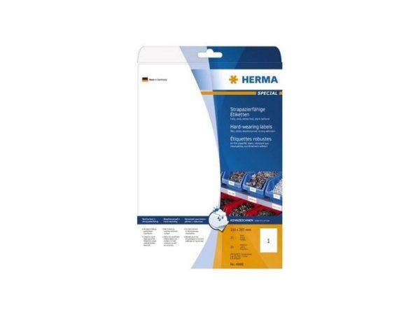 Etikett HERMA polyester A4 210x297 (25)