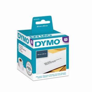 Etikett DYMO adresse 89x28mm (2x130)