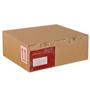 Posteske låseklaff 345x230x80mm brun(25