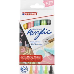 Akryltusj EDDING sett e-5100 pastell (5