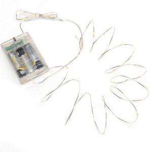 Lysslynge 40 LED Timer 4xAA sølv