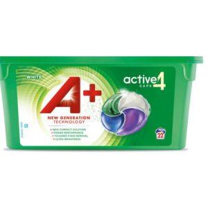 Tøyvask A+ tabletter White Active (22)