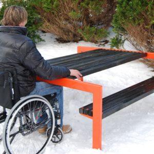 Handikap bord benk